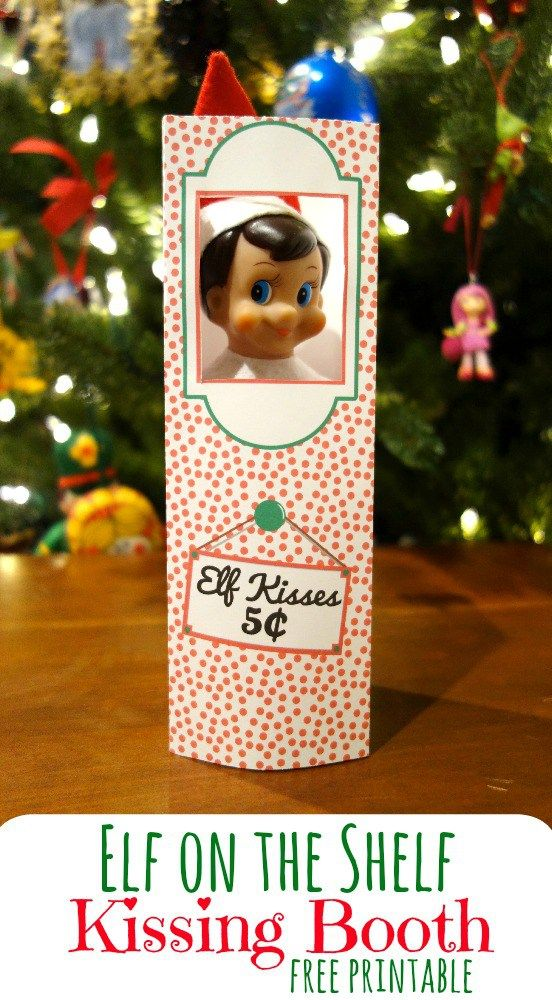 picture relating to Elf on the Shelf Kissing Booth Free Printable named 7 Additional Naughty Elf Upon The Shelf Strategies Elf Elf upon the