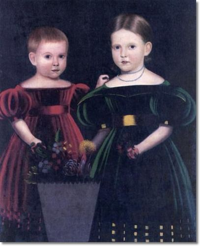 Two Children from the Torrey Family ~ Unknown Artist