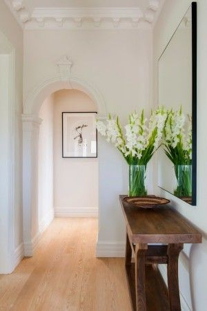 Modern Hallway With Small And Essential Furnitures Hallway