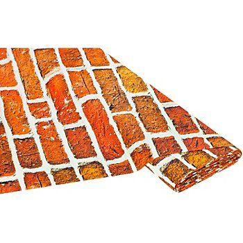 tissu imprim brique butinette 9 95 m fabrics pinterest briques brique rouge et mur. Black Bedroom Furniture Sets. Home Design Ideas