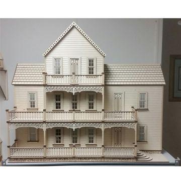 1 12 Scale Lansdowne Dollhouse Kit At Www Needlesnminis Com Wooden Dollhouse Kits Wooden Dollhouse Dollhouse Kits