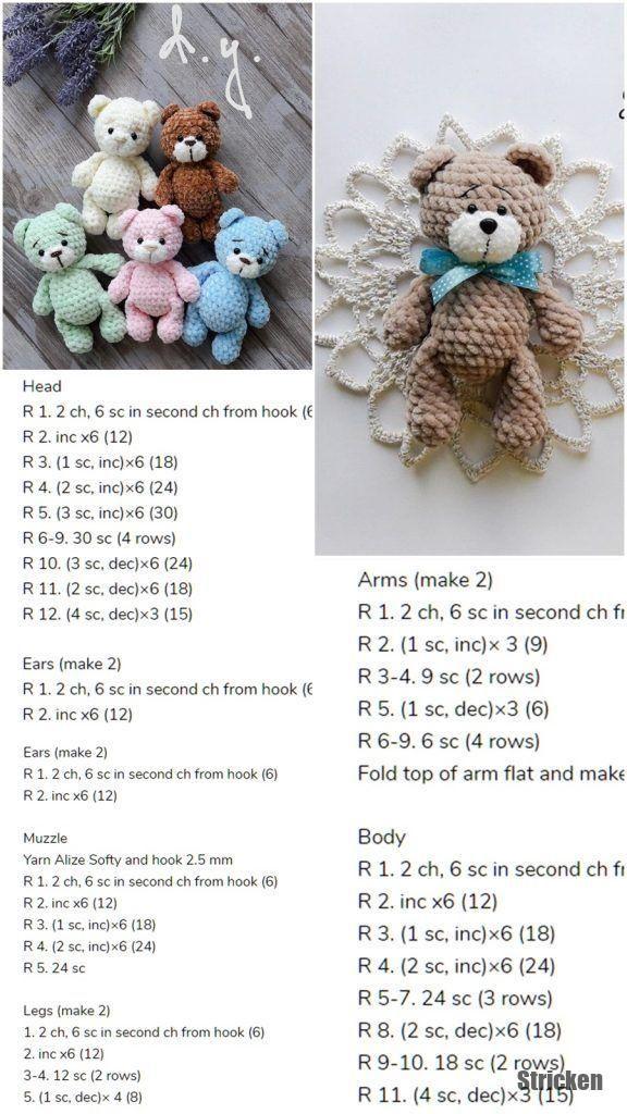 Amigurumi Amigurumi Little Bear Free Häkelanleitung - Amigurumi Crochet #вязаныеигрушки