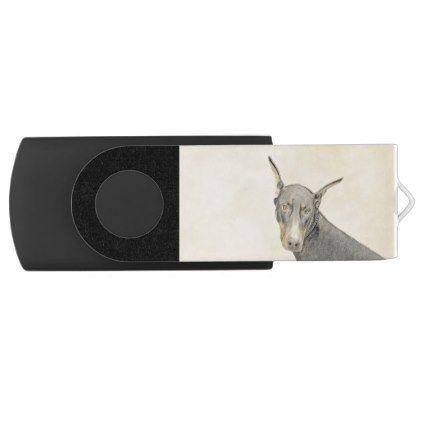 #Doberman Pinscher USB Flash Drive - #doberman #pinscher #puppy #pinschers #dog #dogs #pet #pets #cute