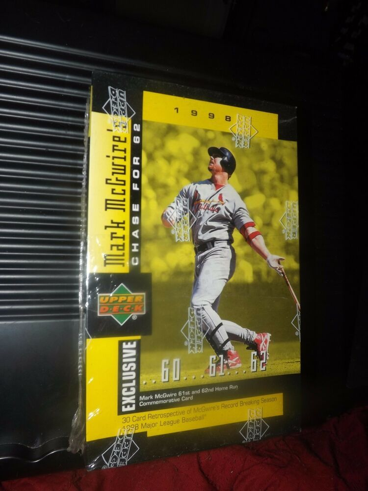 1998 mark mcgwire exclusive 61st 62nd home run 30