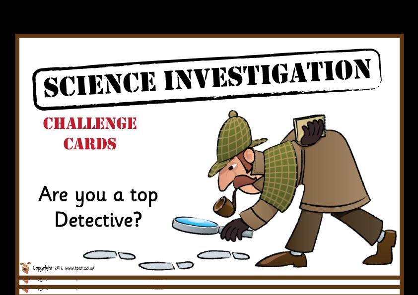 KS2 Science Investigation Challenges http//activities