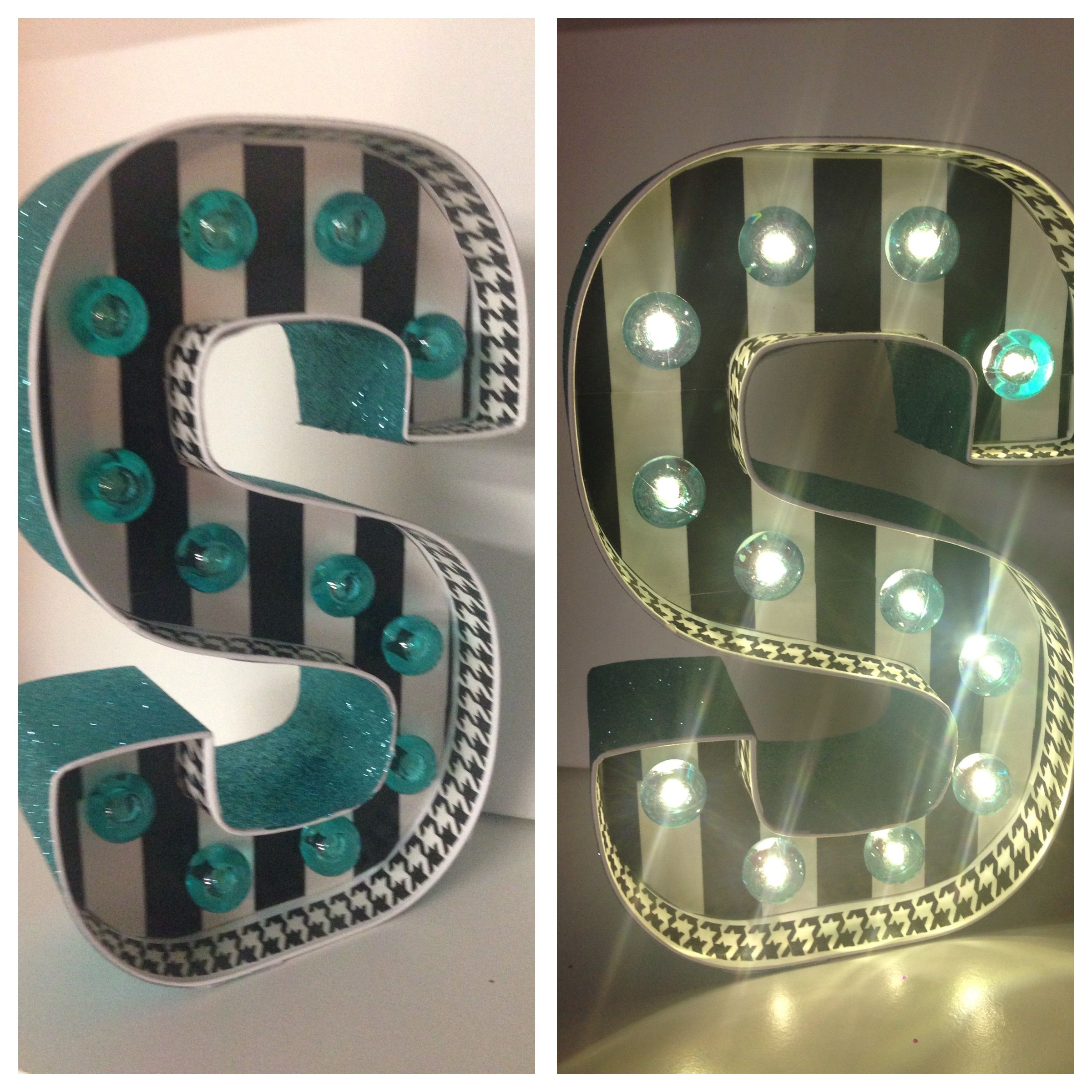 We love the Marquee Letters by Heidi Swapp!!  This was so simple to make and I love how it turned out.  I used all the Heidi Swapp tape to decorate it!!