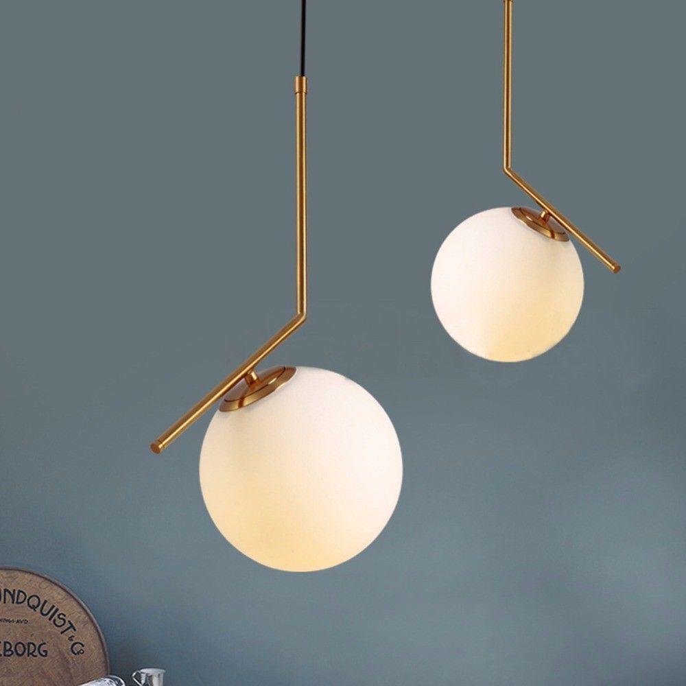 Gl Er Ball Crystal Chandelier Led Lamps Modern