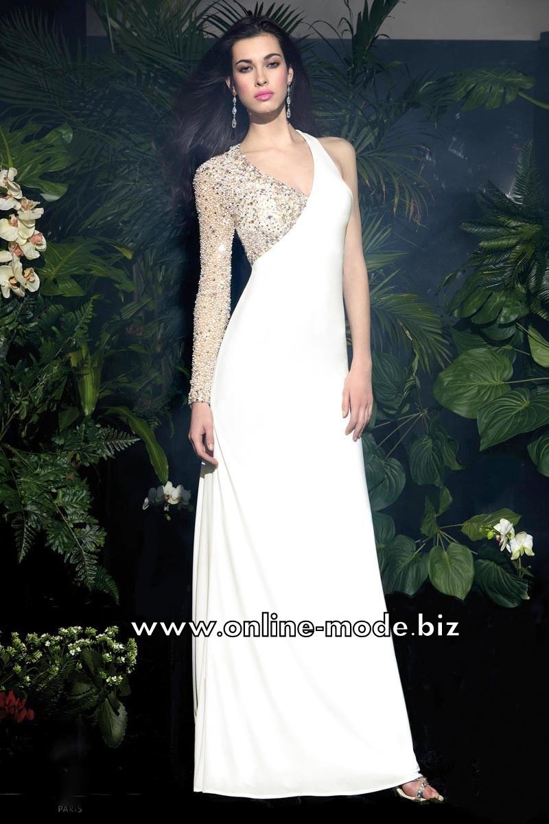 gala kleid abendkleid online in weiss #abendkleid #weiss