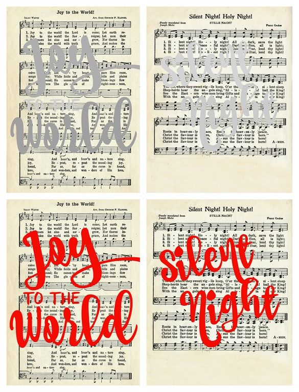 Christmas Carol Art with Free Printables   Free christmas music, Free christmas printables, Free ...