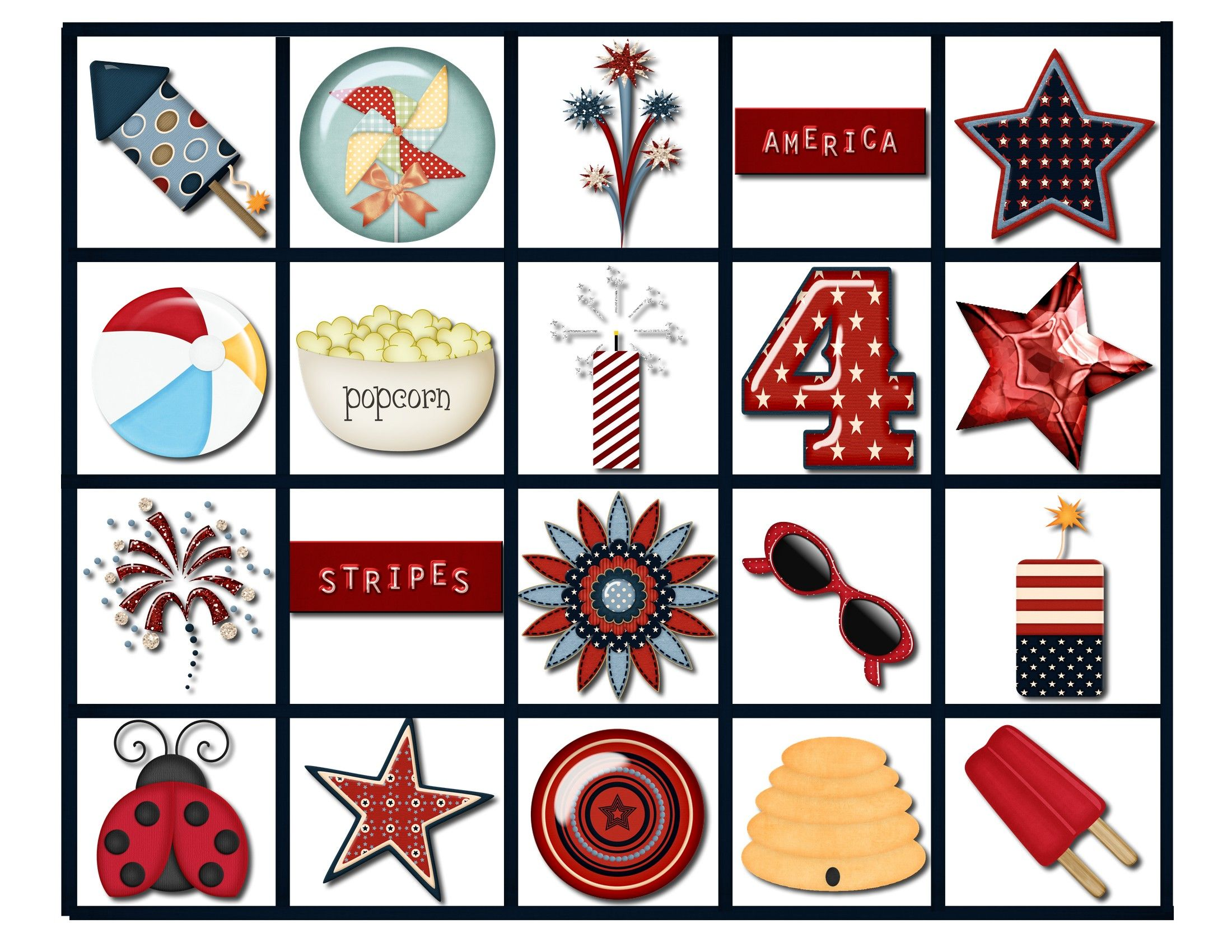 July 4th Bingo Game