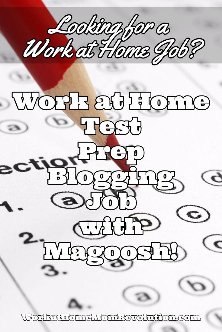 Work at Home Test Prep Blogging Job with Magoosh   Blogging