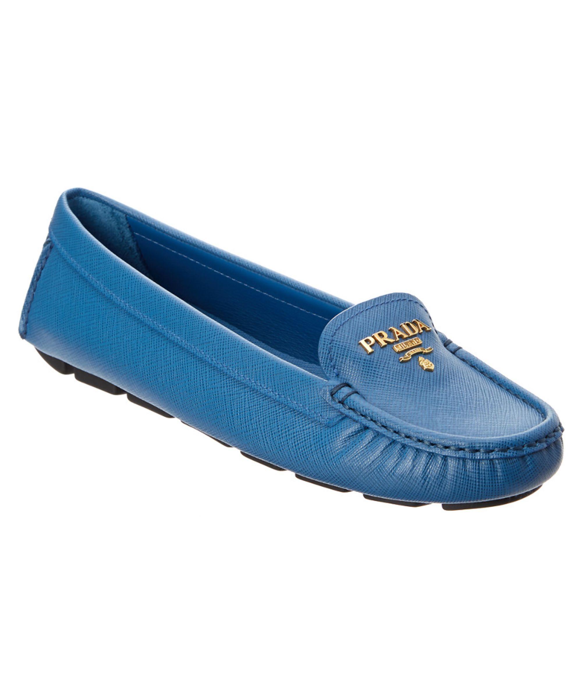 b1d29c7ff5c ... cheap prada prada saffiano leather moccasin shoes flats prada fc5d6  637ba