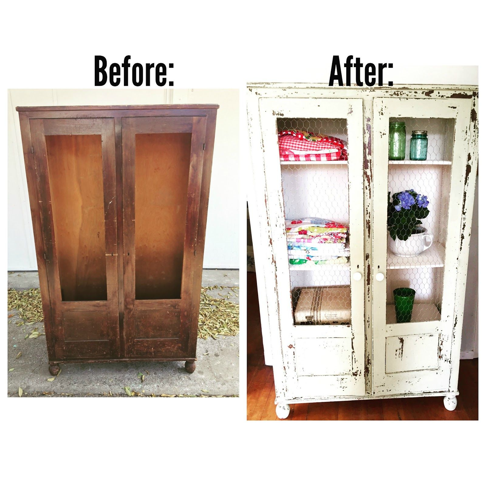 Old Style Kitchen Cabinet Doors: D.D.'s Cottage And Design: How To Make An Old Cabinet Have