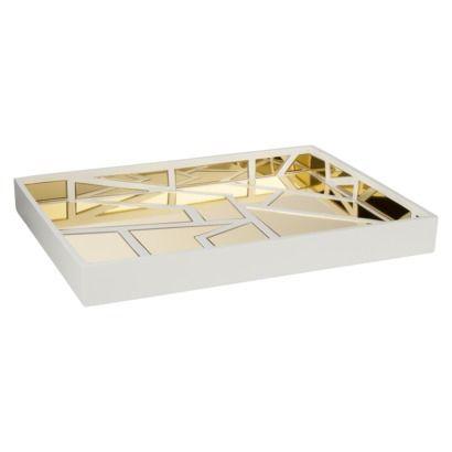 White Decorative Tray Awesome Nate Berkus Gold Mirrored Decorative Tray  Trays  Pinterest Review