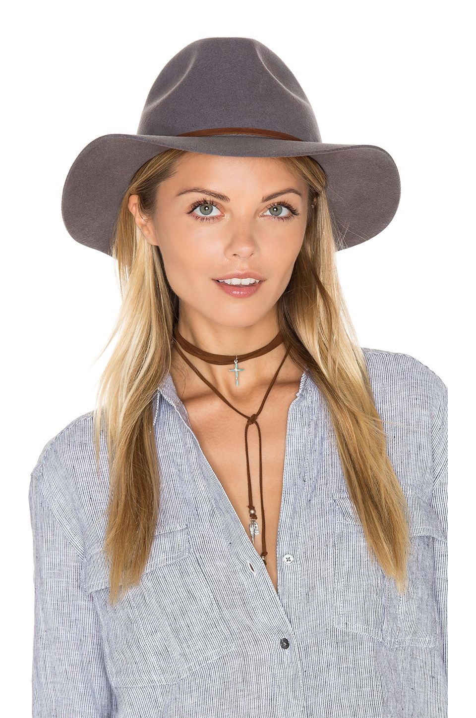 Brixton Wesley Fedora in Light Grey at Revolve size small  cd733174f1e7
