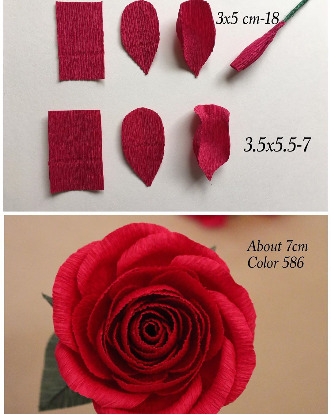 Crepe Paper Roses Are Just One Of Our Favorite Flower Color 586