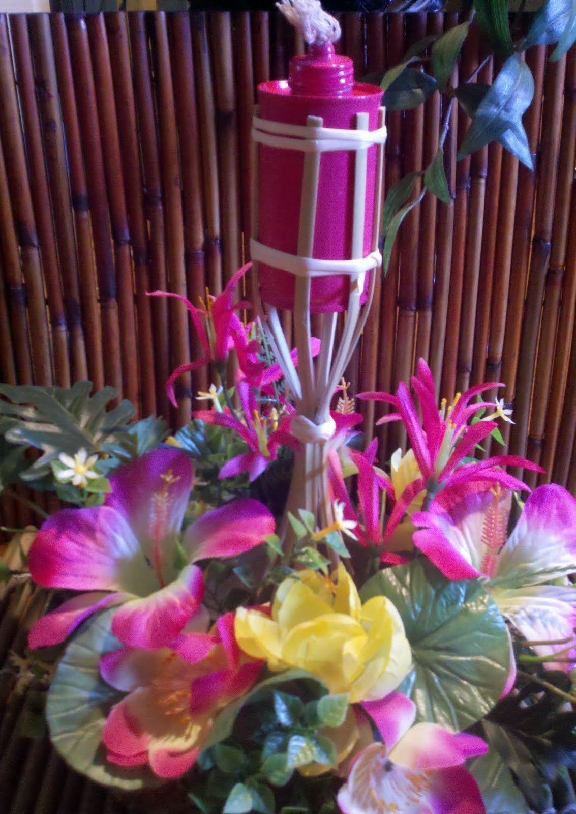 Tiki Torch Centerpieces   Google Search
