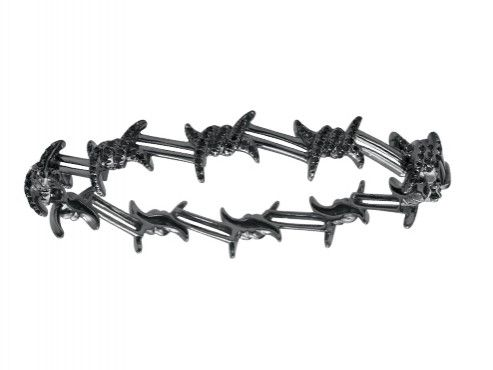 Djula - Barbed wire mix gold and black diamonds, ~ USD$ 8'394