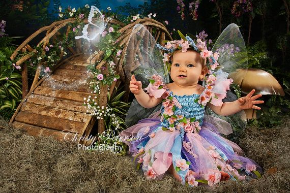 Pink and Blue Baby Fairy Costume size 6-12-18 months by Fairy Photography  sc 1 st  Pinterest & Pink and Purple Baby Fairy Costume size 6-12-18 month girl ...
