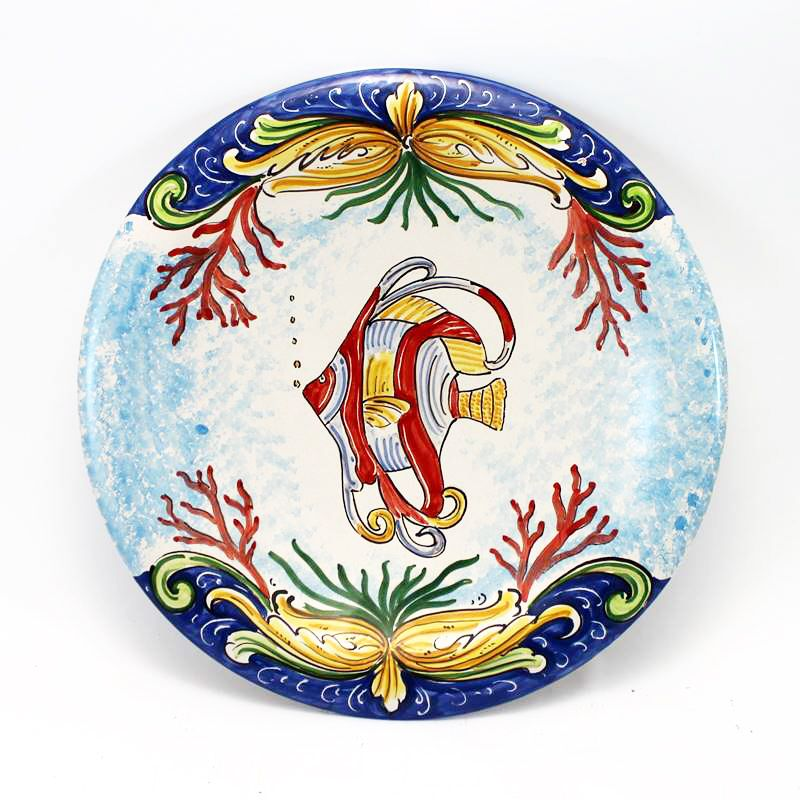 Piatti decorati ceramiche di caltagirone. Piatto In Ceramica Artistica Di Caltagirone Interamente Modellato E Dipinto A Mano Dimensioni Cm 35 Pr Piatti In Ceramica Ceramica Ceramica Dipinta A Mano