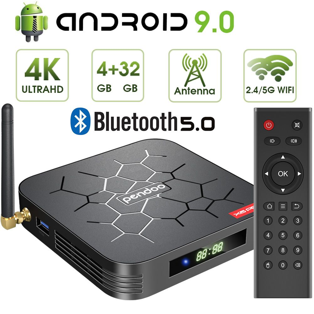 Newest Pendoo X6 Pro tv box Android 9.0 operating