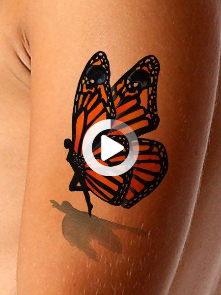 Photo of Monarch Butterfly Tattoo On Half Sleeve –  Monarch Butterfly Tattoo On Half Sleeve  – #butterfly