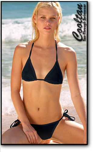 Bikini finish line string