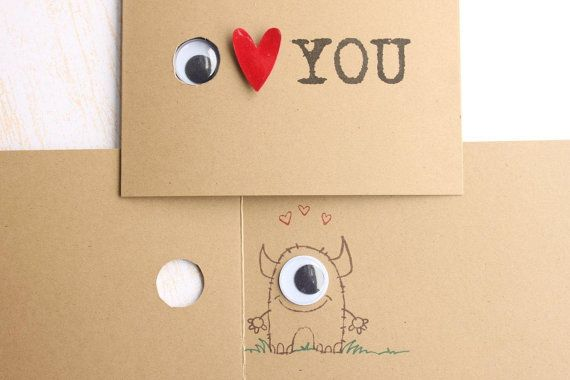 Googly eye love note