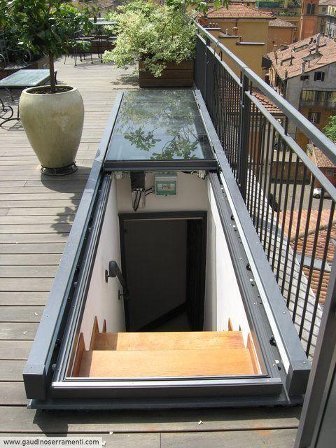 Lucernario piano scorrevole in alluminio [2] #terracedesign
