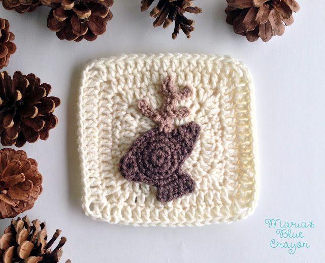 Woodland Deer Granny Square - Woodland Afghan Series   crochet ...