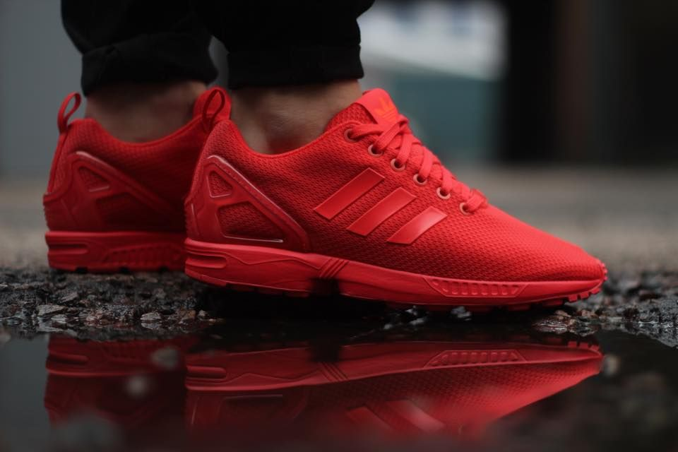 big sale 2416e 324ff Red Hot ZX Flux Red Adidas Shoes, Red Sneakers, Adidas Sneakers, Adidas Zx
