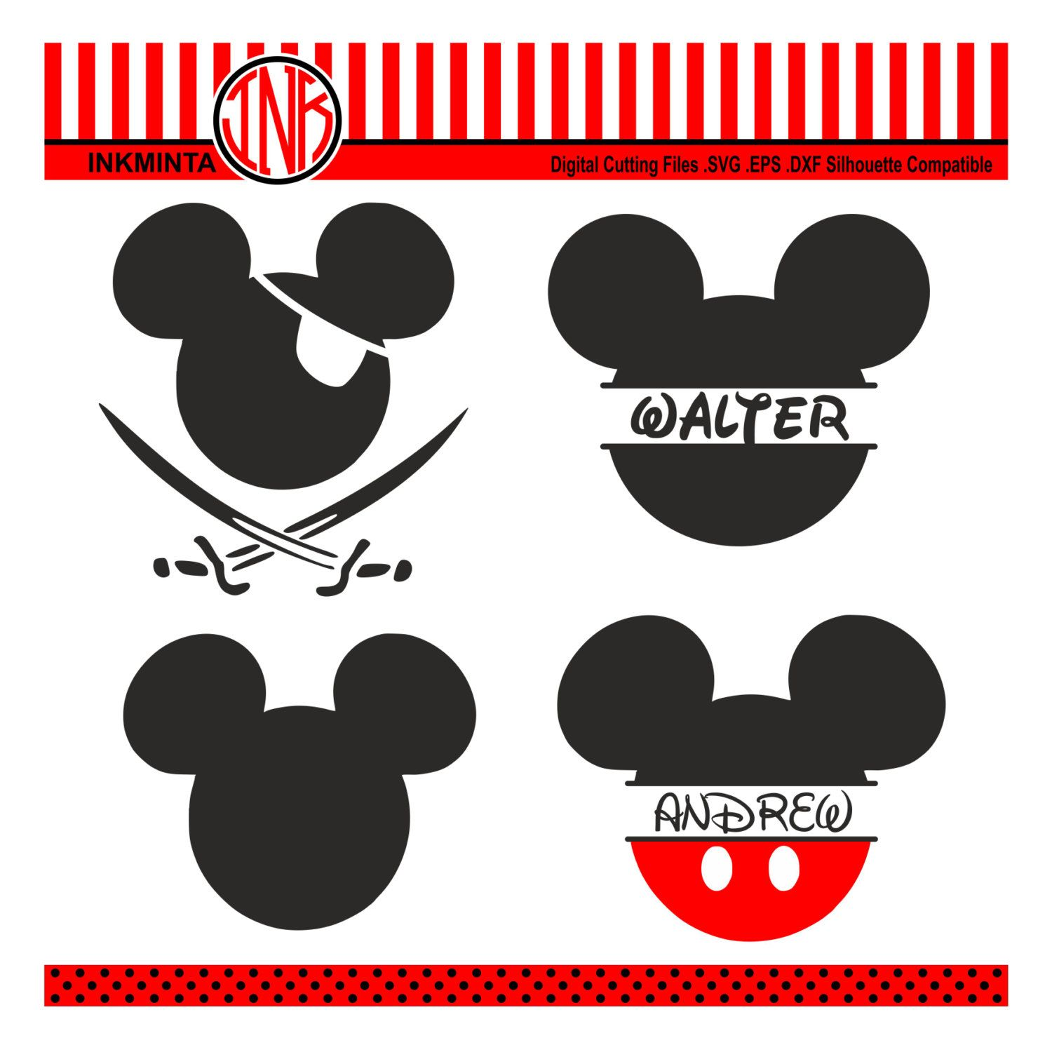 View source image Monogram svg, Mickey mouse 1st
