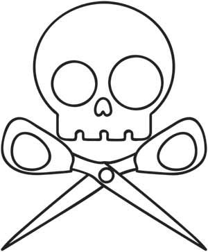 Embroidery Designs at Urban Threads - Skully Scissors