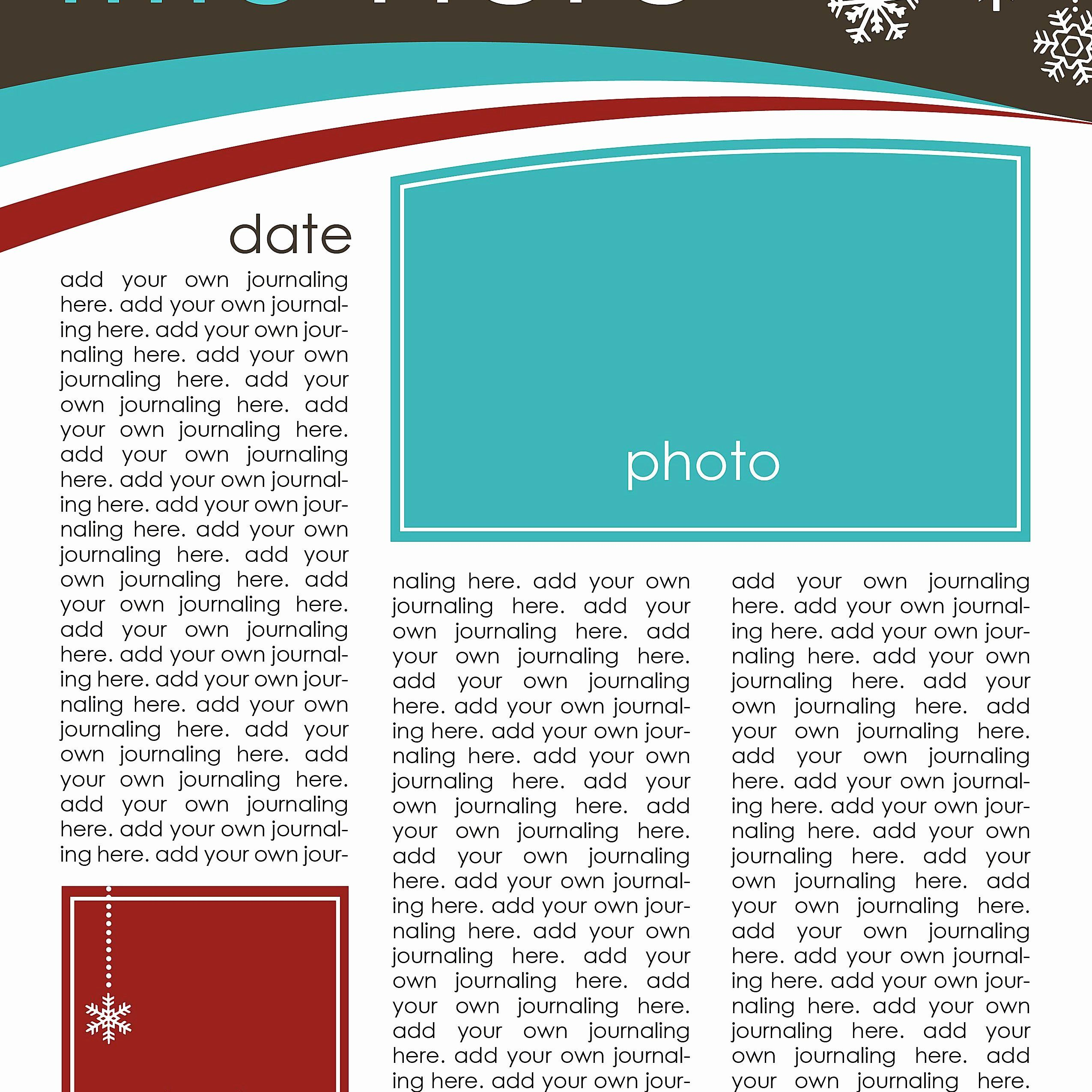 Free Holiday Newsletter Templates Beautiful 7 Free