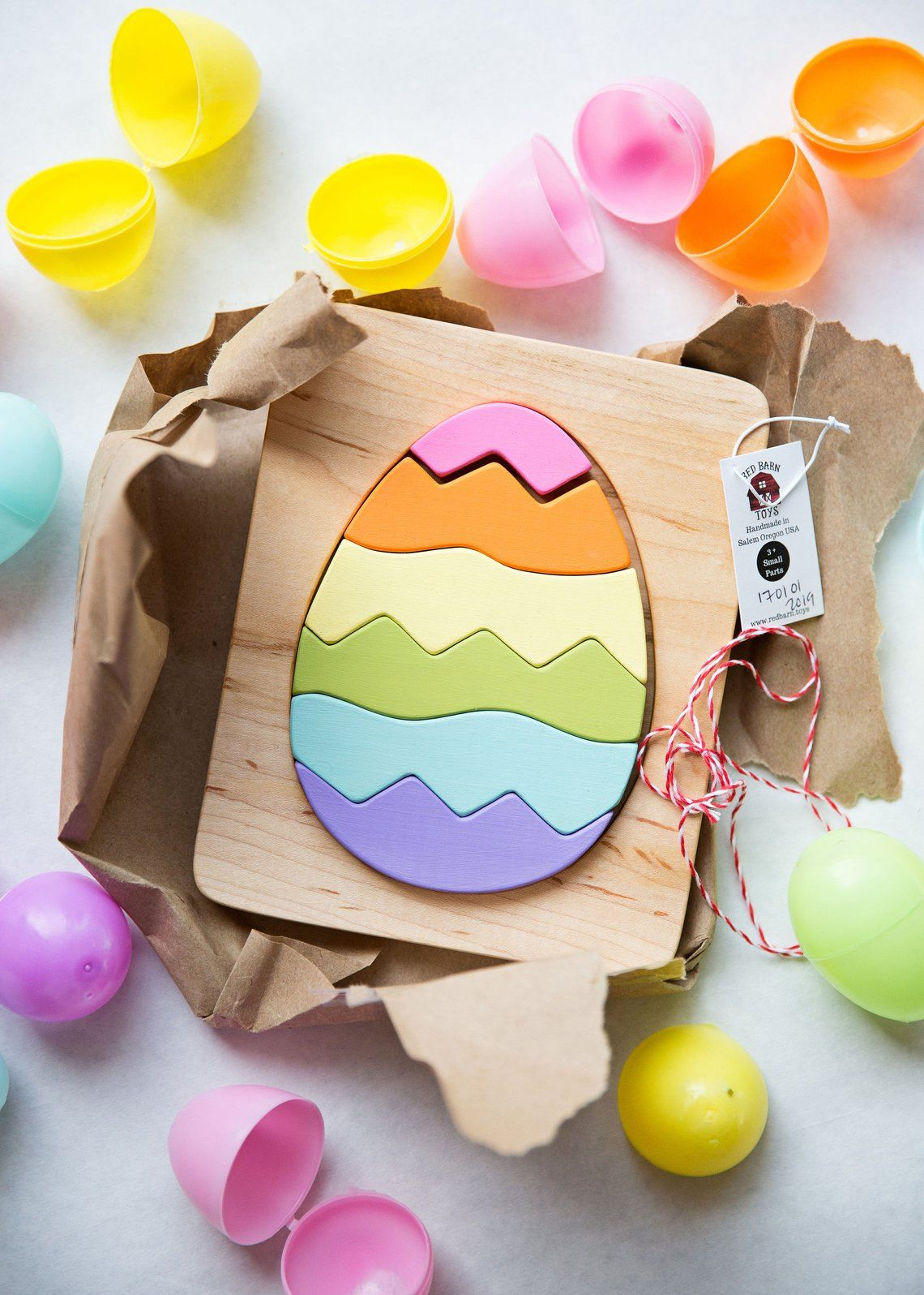 Easter egg wooden puzzle easter gifts for kids wood