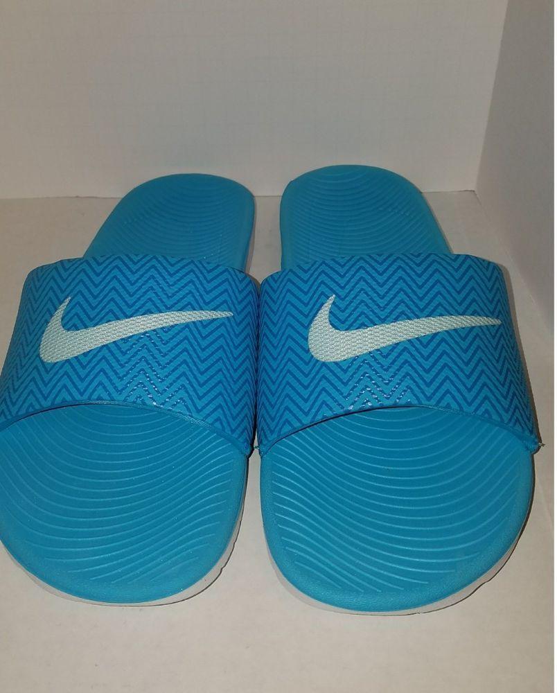 1c207d7af Women s Nike Kawa Slide Print Chlorine Blue Size 9  Nike  Slides  Beach