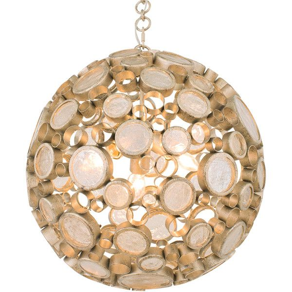 Dot & Bo Odyssey Orb Mini-Pendant in Zen Gold - Medium (€595) ❤ liked on Polyvore featuring home, lighting, ceiling lights, mini lamp, gold pendant light, mini lights, miniature bottles and orb pendant light
