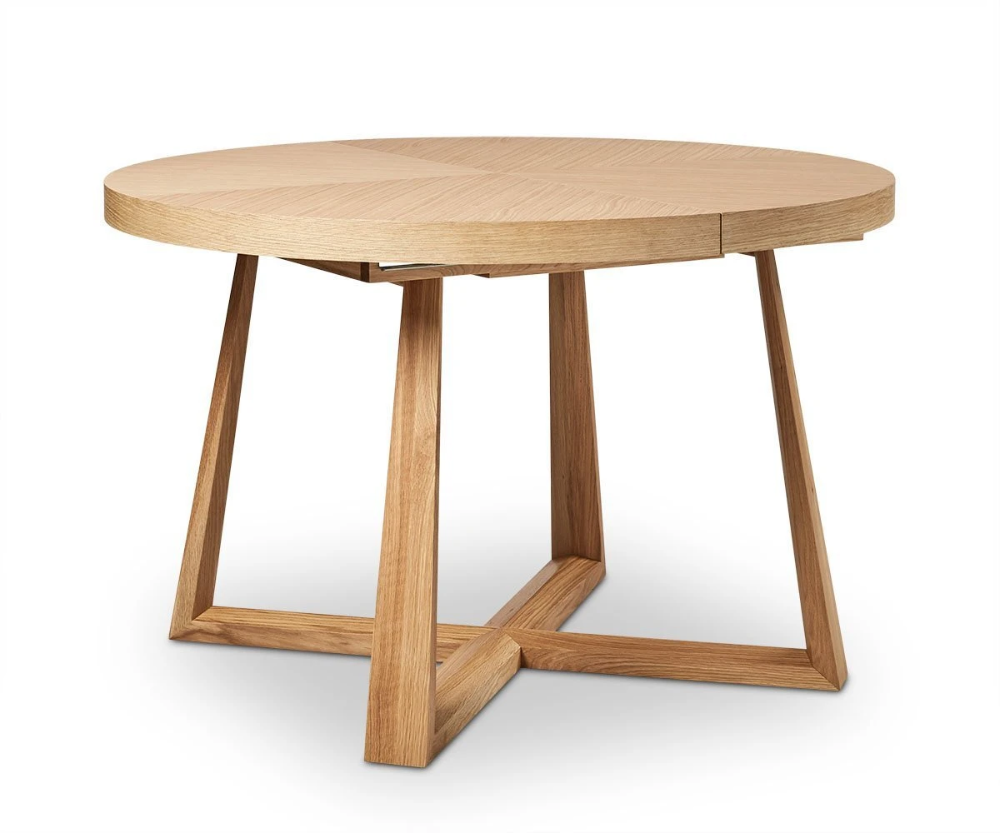 Oliver Round Extension Dining Table In 2020 Scandinavian Dining Table Wooden Dining Tables Extension Dining Table