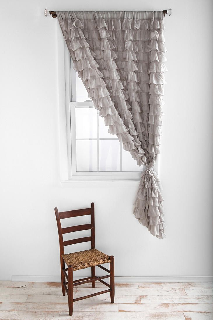 Gray curtains bedroom waterfall ruffle curtain  ruffled curtains gray bedroom and bedrooms