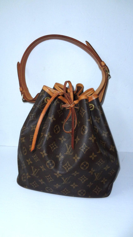 Authentic Louis Vuitton Vintage Petit Noe bucket bag ...