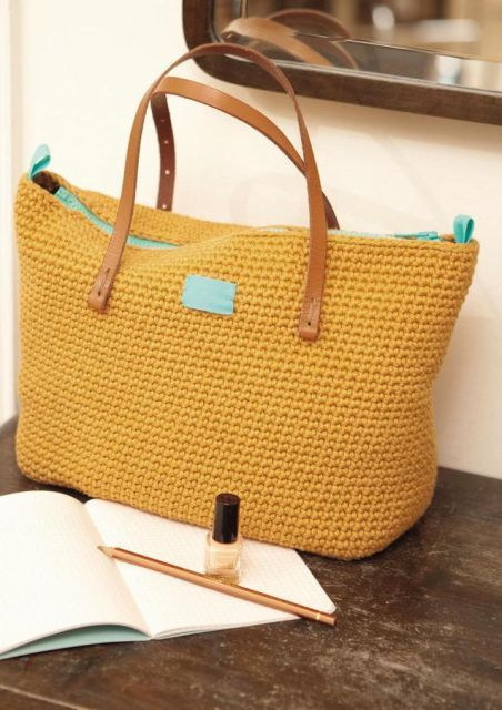 Virka vårens härligaste väska | Väskor, Väskmönster och
