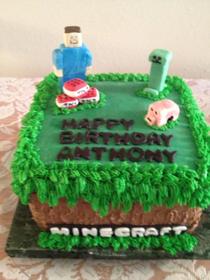 Minecraft Cake By Linda Cupp Birthday Party Ideas