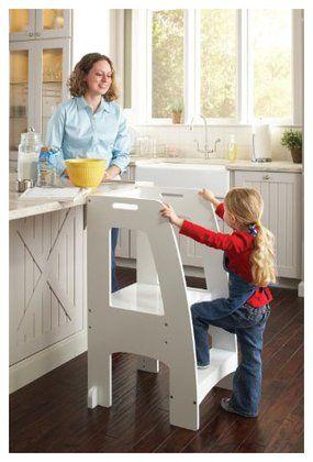 Guidecraft Step Up Kitchen Helper White Free Shipping