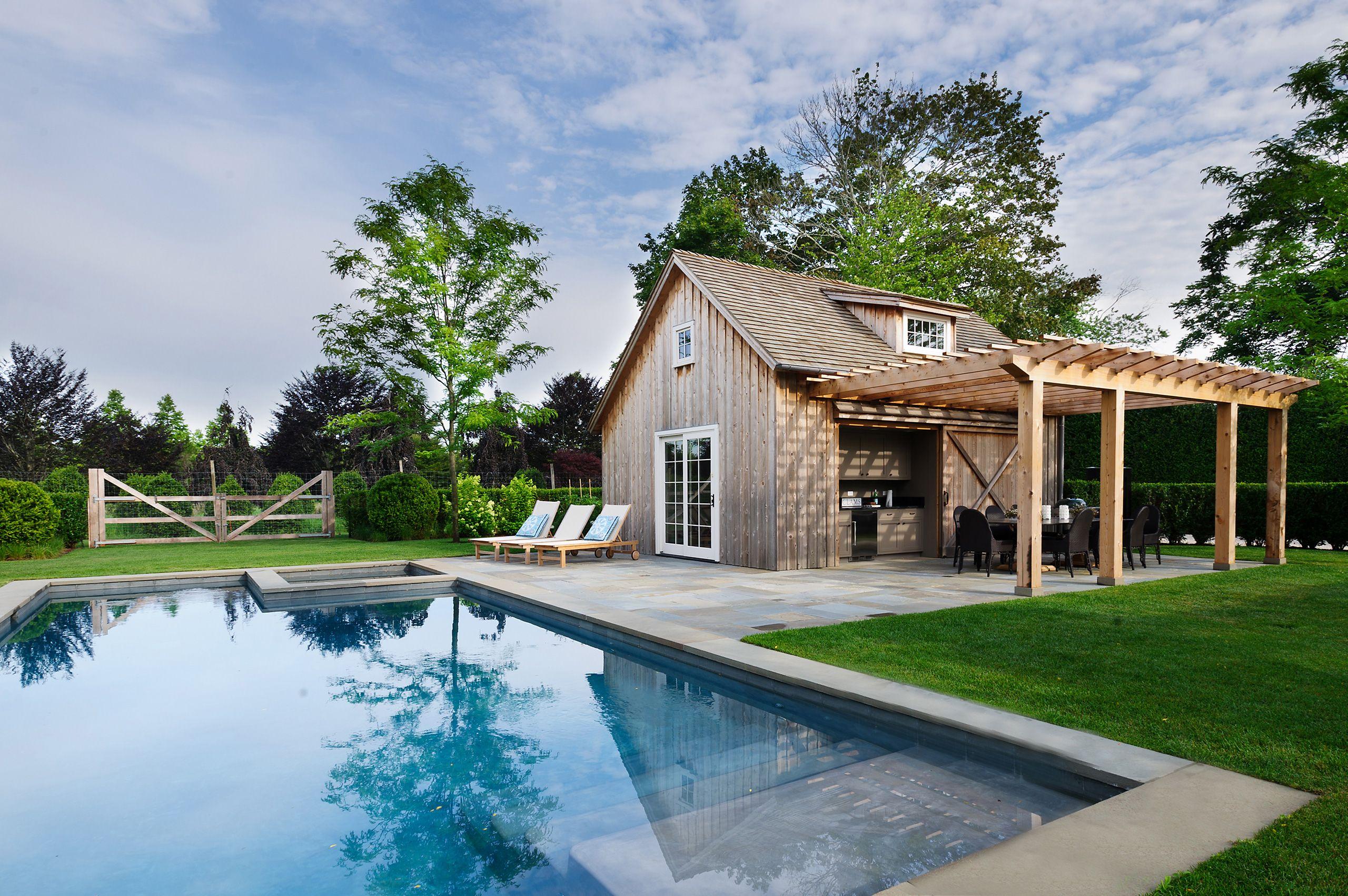 Pool And Rustic Pool House Beeton And Company Pool Houses