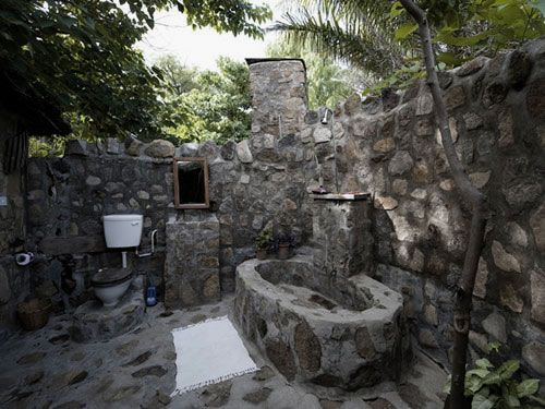 Pic On Outdoor stone house Rough Stone Bathroom Design Ideas Images Natural Outdoor Stone