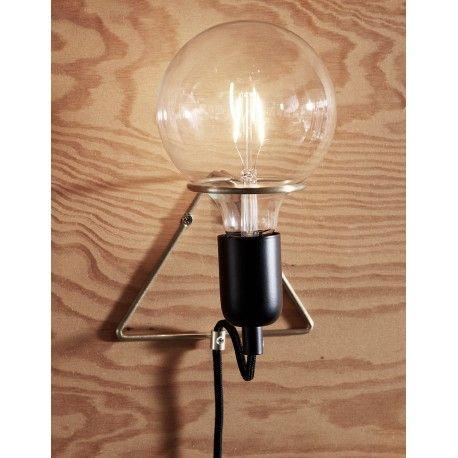 Moderne Wandlampe Hübsch Interior mit großer Glühbirne erhältlich im ...