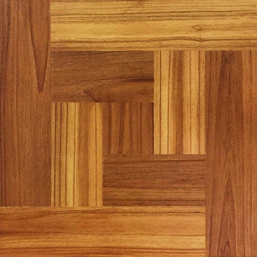 12 In X 12 In Brown Wood Parquet Peel And Stick Vinyl Tile Flooring 30 Sq Ft Case Brown Wood Parquet Wood Grain Emb In 2020 Vinyl Tile Wood Parquet Wood Vinyl