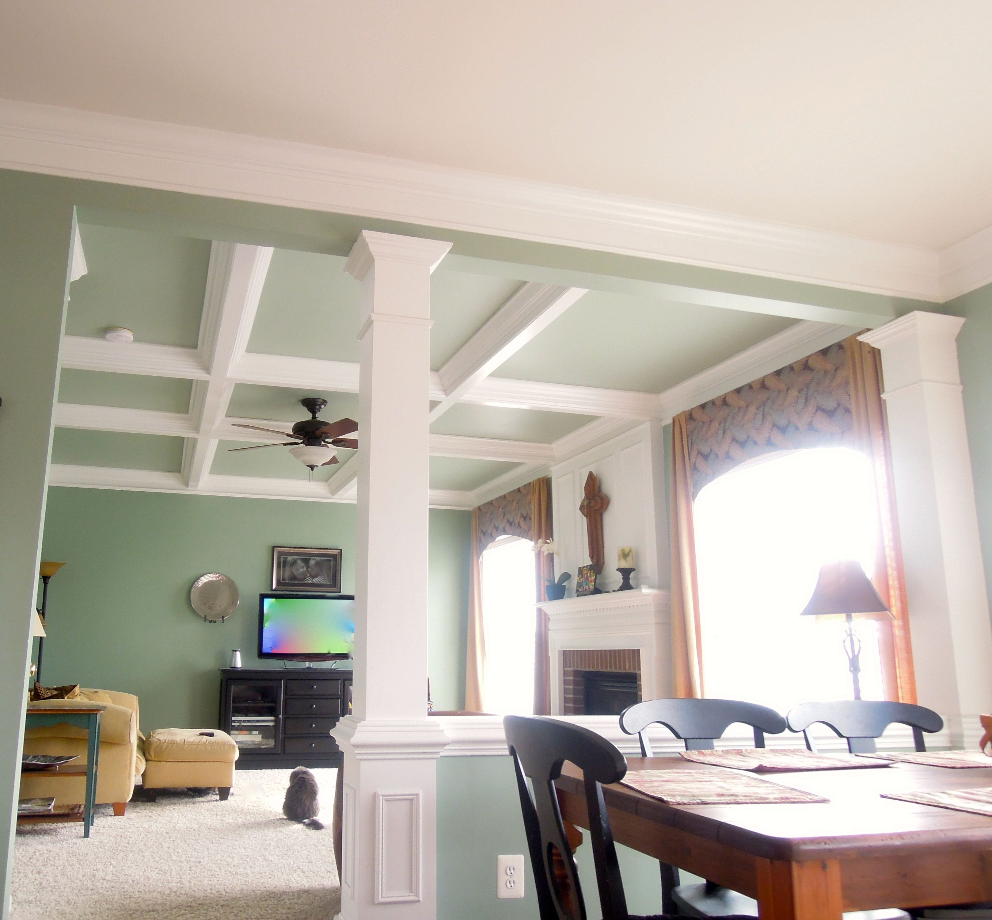 Diy coffered ceiling coffered ceiling home new homes