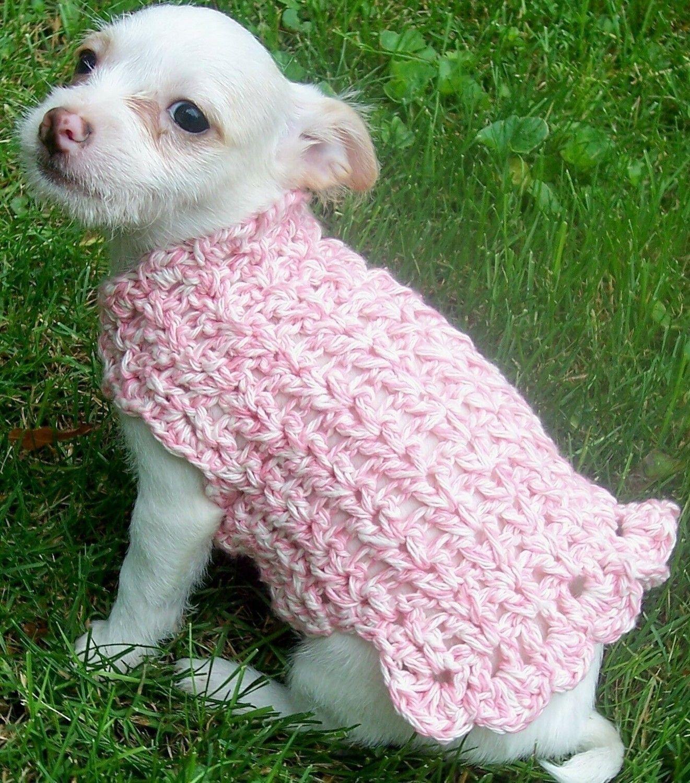 Crochet Pattern--------------Adorable Dog Sweater ...