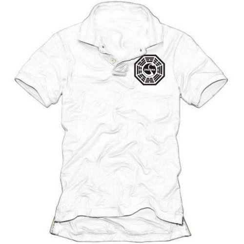 Coole-Fun-T-Shirts POLOSHIRT LOST DHARMA POLOSHIRT, WEISS, GR.L